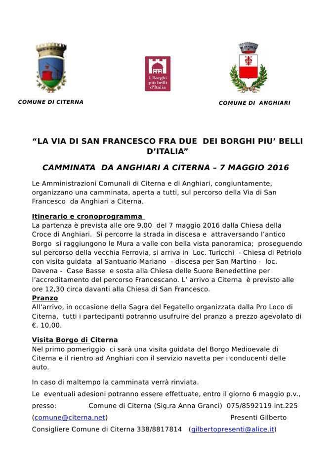 """laviadisanfrancesco - La Via di San Francesco fra due dei """"Borghi più Belli d'Italia"""""""